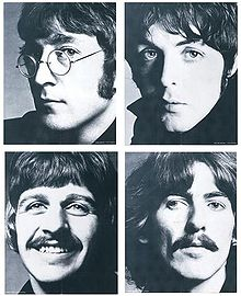 Photo by Richard Avedon. Clockwise from top left: John, Paul, Ringo, George.