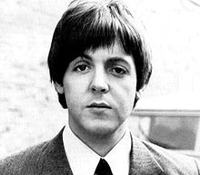 Black-and-white image of McCartney, in 1961.